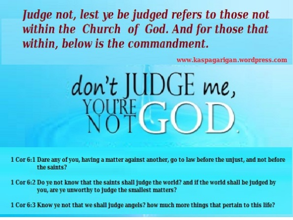 Judges within Church of God